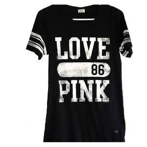 Black & White - •VS PINK• | Varsity Stripe Tee